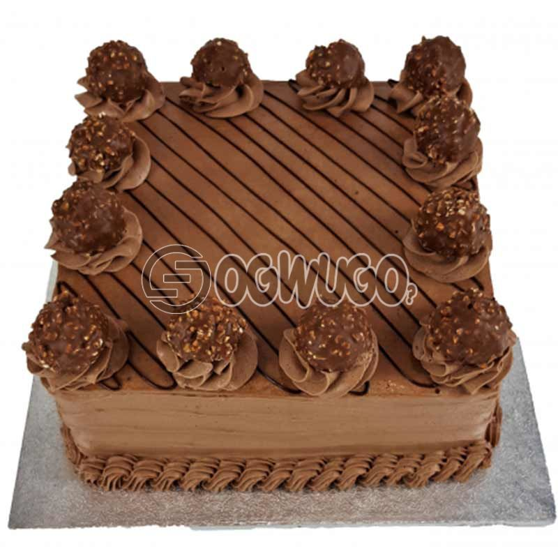 CELEBRATION CAKE - Square shaped (big size).
