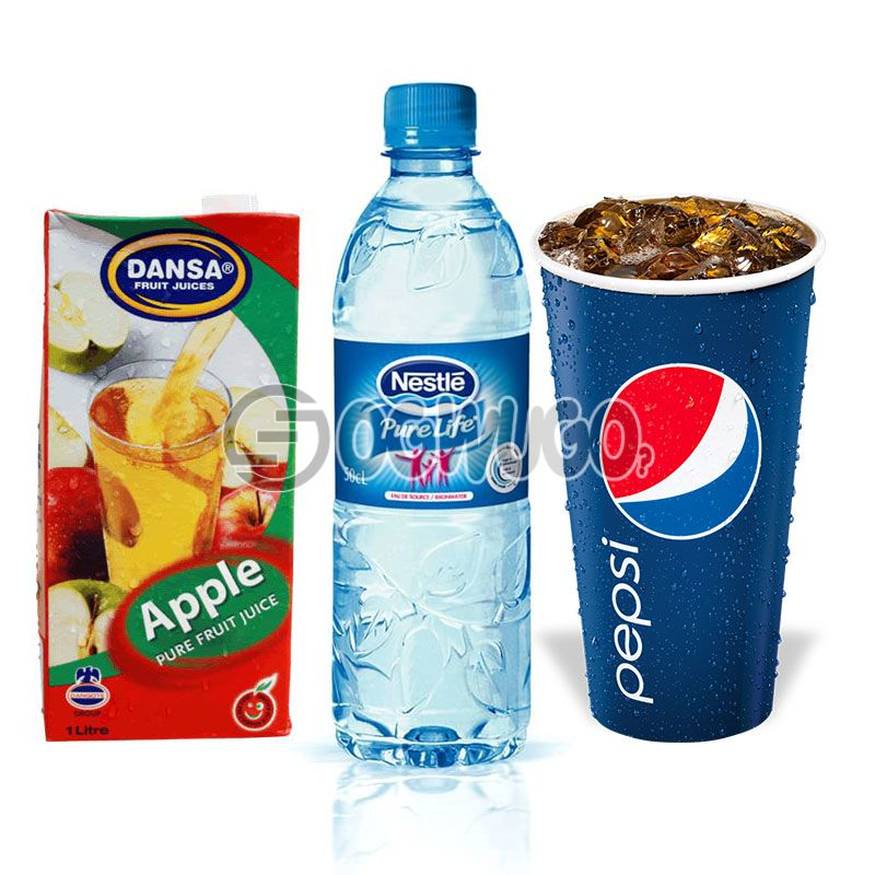50cl Large Pepsi Cup or 50cl Water or 25cl Juice