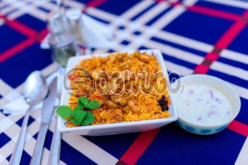 Prawn biryani [indian food]