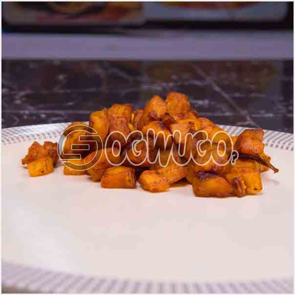 One portion of tasty chopped fried plantain, very delicious and can be eaten with rice or alone