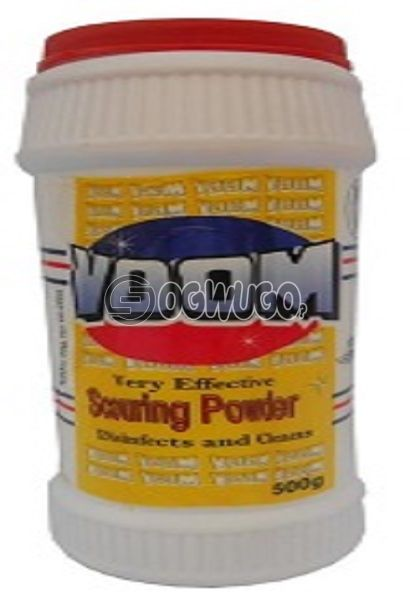 Voom scouring powder with a refreshing lemon fragrance formulated to remove stubborn stains. : unable to load image