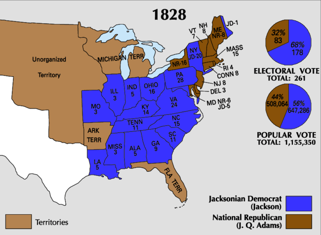 united states presidential election 1828 essay According to the 12 th amendment to the united states constitution, to win the presidential election one candidate must have more than 50% of the electoral votes in order to be elected president.