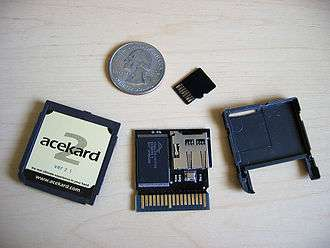 Nintendo DS and 3DS storage devices