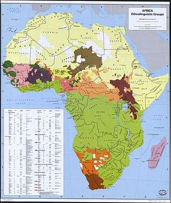 Languages Of Africa - African language map