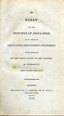 essay malthus essay on the principle of population