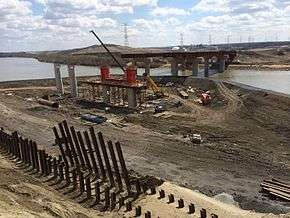Anthony henday drive berms were used for construction of two steel bridges carrying anthony henday drive over the north sciox Images