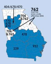 where is 404 area code coming from