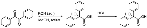 benzil to benzilic acid