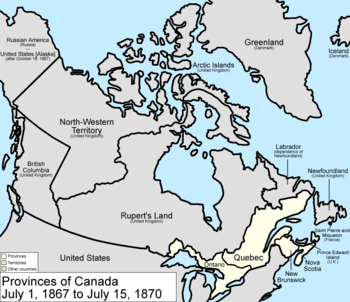 Territorial Evolution Of Canada - Map of southern canada and northern us