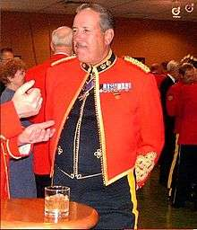 Household cavalry officers mess dress medal placement