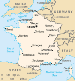 list of twin towns and sister cities in france