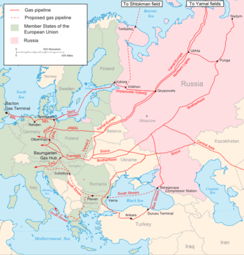 List of natural gas pipelines