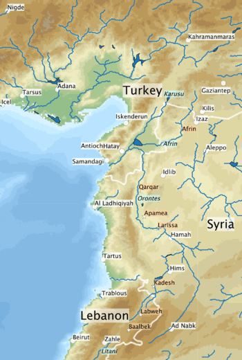 Orontes River - World river map with names