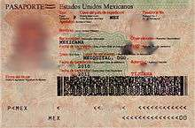 passport book number mexico