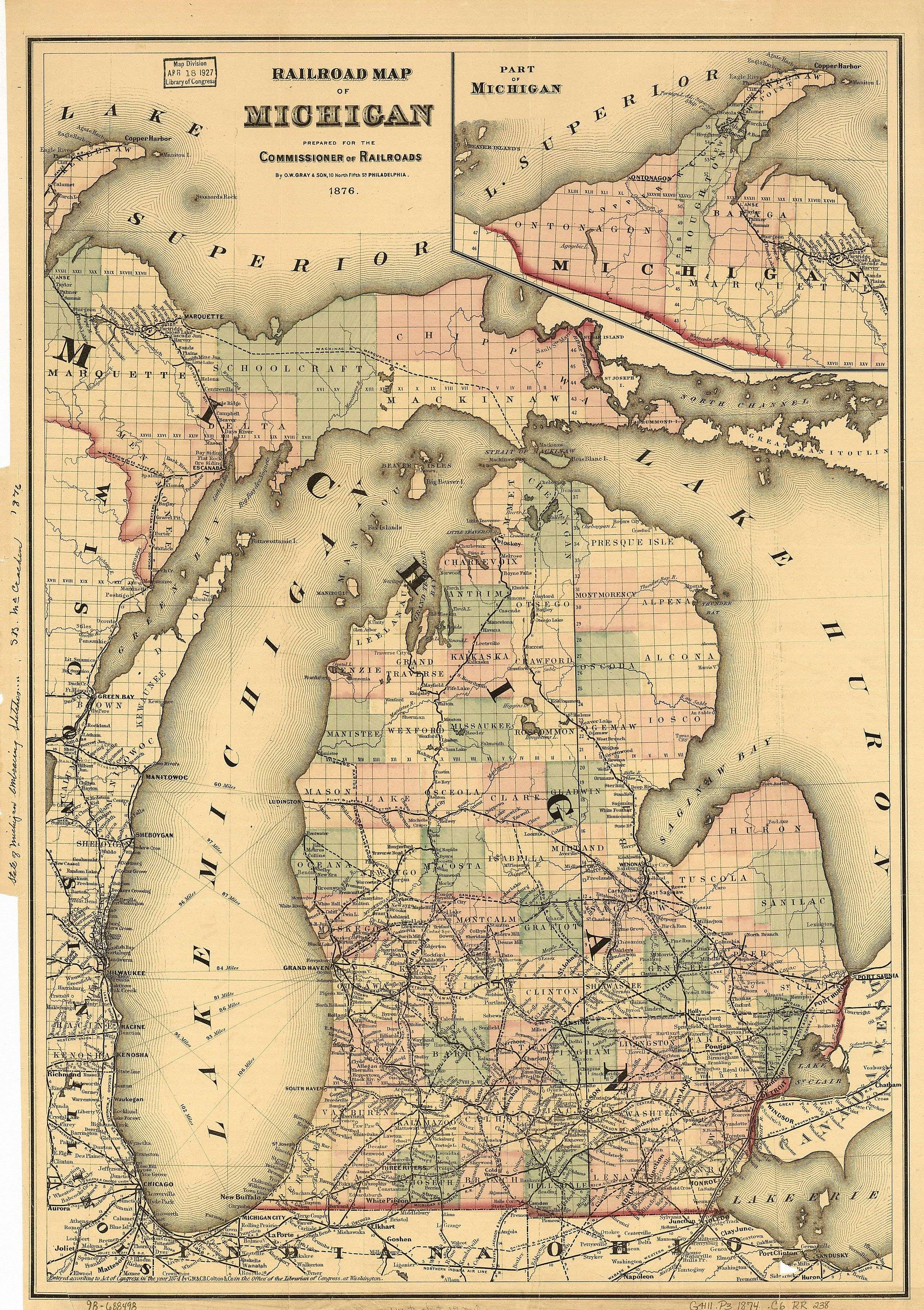 Northern Michigan - Map of lower michigan