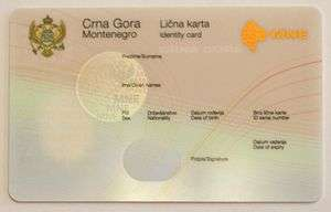 Identity document montenegrin national id card pronofoot35fo Gallery