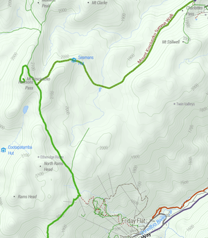 Mount kosciuszko topographic map of mt kosciuszko including the approaches from charlotte pass and thredbo sciox Image collections