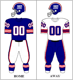 best service e4d33 d6943 Logos and uniforms of the New York Giants