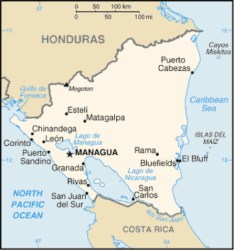 Geography Of Nicaragua - Where is nicaragua on the world map