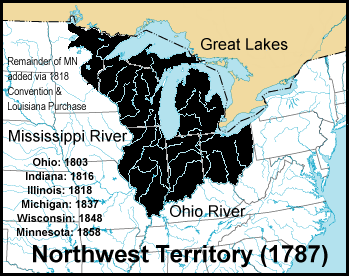 The Northwest Territory Was A Large And At Times Ill Defined Territory Ceded By Great Britain To The U S At The End Of The Revolutionary War