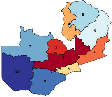 Provinces of Zambia