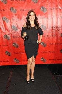 e38cf9549 Sofía Vergara with the award for Modern Family at the 69th Annual Peabody  Awards