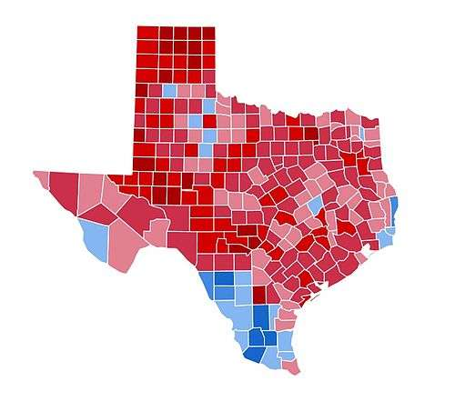 United States presidential election in Texas, 1984