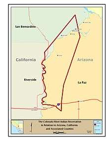 Map Of Arizona Indian Tribes.Colorado River Indian Tribes