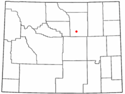 Kaycee, Wyoming on rock springs wyoming on us map, laramie wyoming on us map, cheyenne wyoming on us map, green river wyoming on us map,