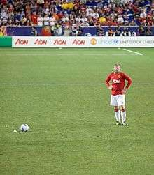 62730d93620 Rooney preparing to take a free kick vs MLS All Stars in July 2011