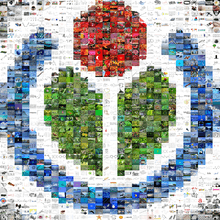 Wikimedia logo mosaic created to commemorate the one millionth file at Wikimedia  Commons 141aac013