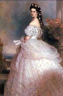83870c80a015 Dress designed by Charles Frederick Worth for Elisabeth of Austria painted  by Franz Xaver Winterhalter