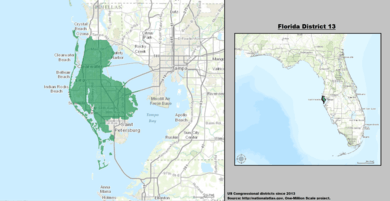 United States Congressional Delegations From Florida - Us house district 13 map