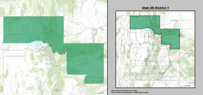 Utahs Congressional Districts - Boundary map for wisconsin 2nd district us house of representatives