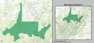 West Virginia S Congressional Districts