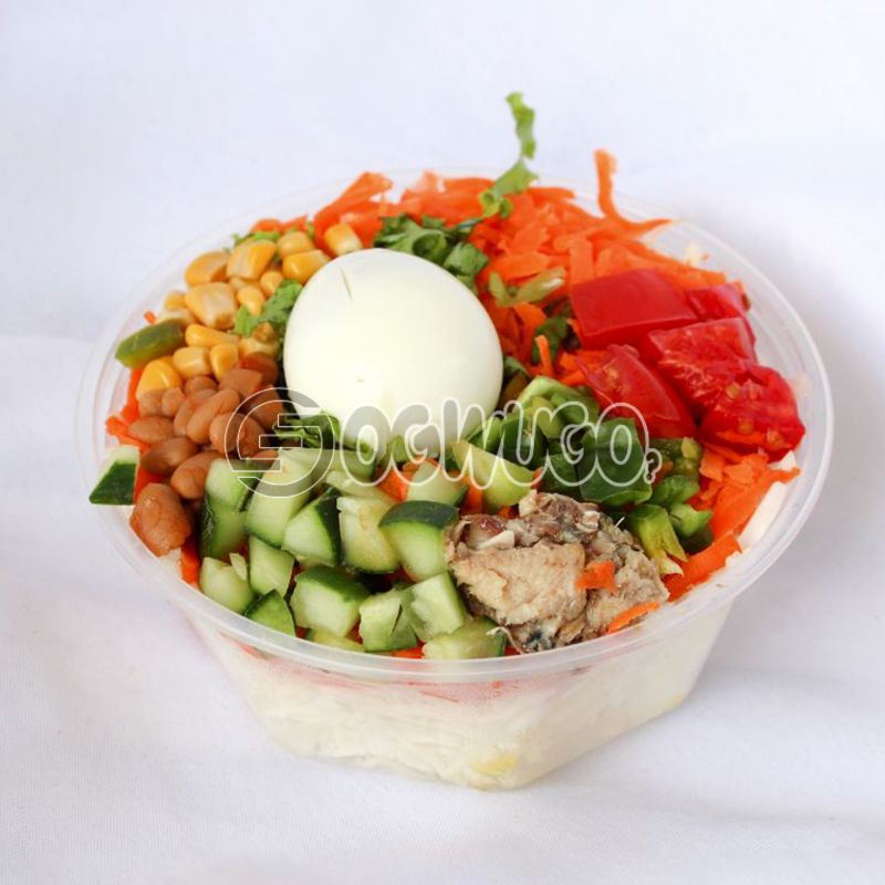 Egg Salad (Boiled Egg and Mixed Vegetable Salad)