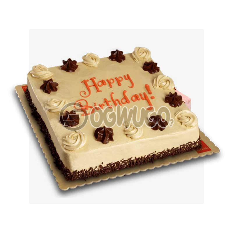 CELEBRATION CAKE - Square shaped (medium size).: unable to load image