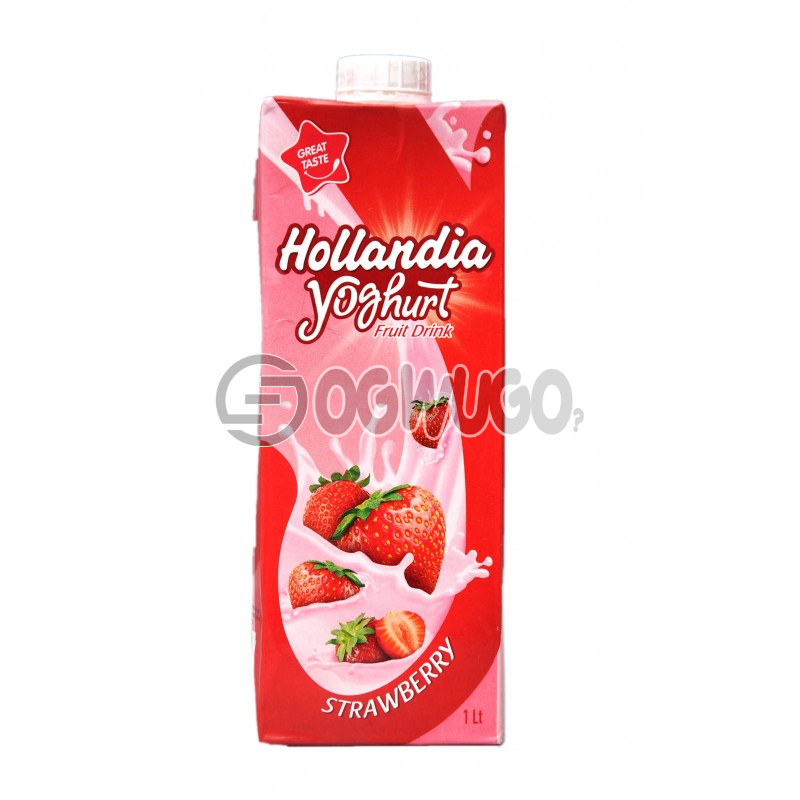 HOLLANDIA YOGHURT Fruit Drink with a 1 litre pack size strawberry flavoured drink