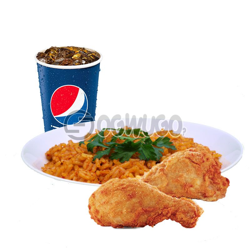 Streetwise Two: Spicy Rice or Regular Chips, 2piece Chicken and 35cl Pepsi