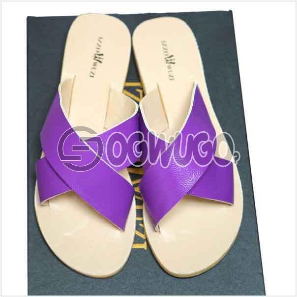 Izzowuzi Ladies Plain and Classy Gold Color Cross Strap Open Toe Slides Slippers