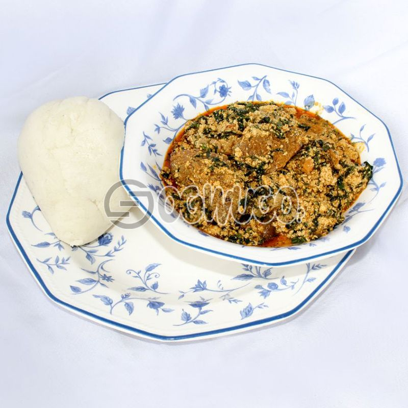 Egusi Soup & Swallow (Semo, Garri, Wheat or Yam)