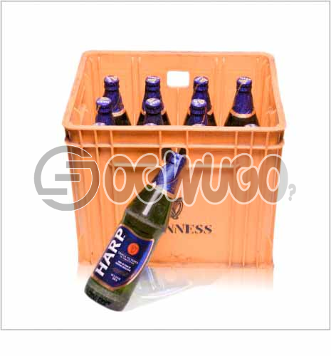 Harp Lager Bottled Beer by Guinness 12 bottles in a crate 60 cl bottle size: unable to load image